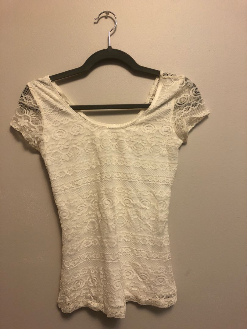 White laced t-shirt