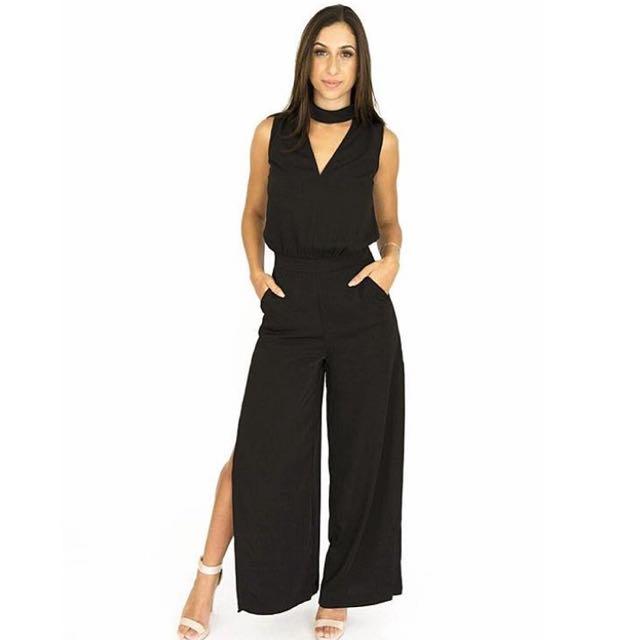 Women's black jumpsuit - sizes 6 & 8 AUS