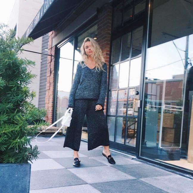 Zara knit set: sweater and culottes Size S