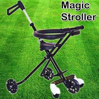 MAGIC STROLLER 5 WHEEL (BLACK COLOR)   Rm83 Inc pos semenanjung  Pm Wasap 0176725125
