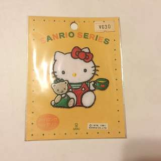 Sanrio vintage Hello Kitty 布章 1991