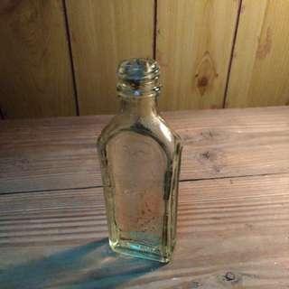 🚚 永龍正紅花油玻璃瓶—古物舊貨