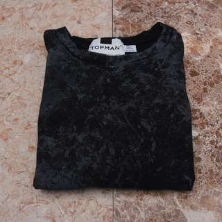 Topman Black Rusted Shirt