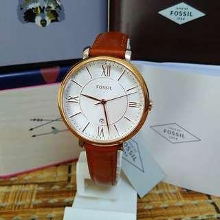 Fossil Jacqueline Cedar Leather Watch ES3842