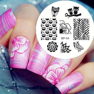 BORN PRETTY Cute Owls Nail Art Stamping Template Image Stamp BP54