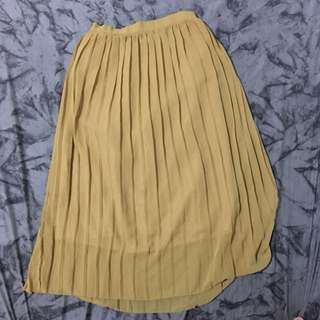 Nude Yellow Skirt