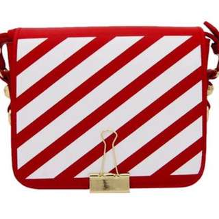 Off White Stripe Bag