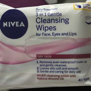 Nivea 3-1 Gentle Cleansing Wipes