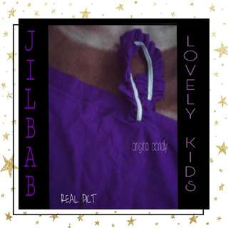 Preloved Jilbab For Lovely Kids Gelombang - Dark Purple Kode : 5 #MakinTebel