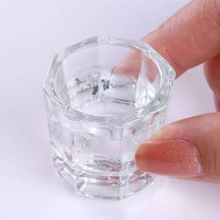 Crystal Nail Art Aclrylic Liquid Glass Container For Acrylic Nail  Glass Box Tool