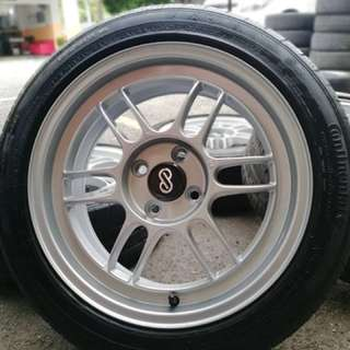 Enkei rpf1 16 inch sports rim almera tyre 80%. Mandi kolam cari itek, bro confirm harga kita kasi geletek!!!