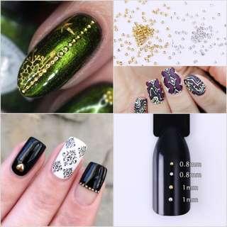100Pcs Mini Dot Nail Studs 3D Nail Decoration Manicure Nail Art Rhinestones Deco Nail Tools #23271