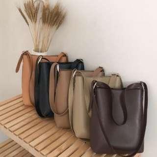 Classic PU Leather Sling Bag