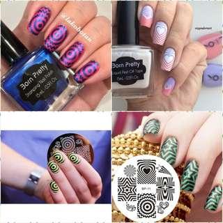Radiating Patterns Nail Art Stamp Template Image Plate BORN PRETTY Nail Stamping Plates BP11