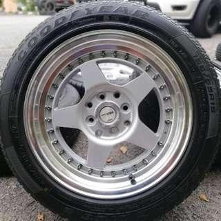 Work emotion cr01 15 inch sports rim myvi ikon tyre 70%. Lepak zoo dengan gajah, harga kita ngejah!!!