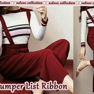 Jumpsuit list ribbon