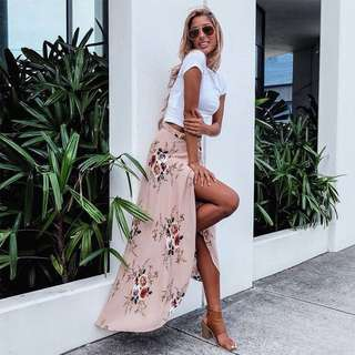 Floral waterfall skirt