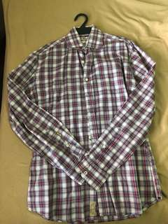 Mango H.E. Red Plaid Long Sleeves