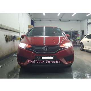 Honda Fit on 4300K color temp Halogen bulb for headlight - warm light yellowish towards pale white - cash&carry