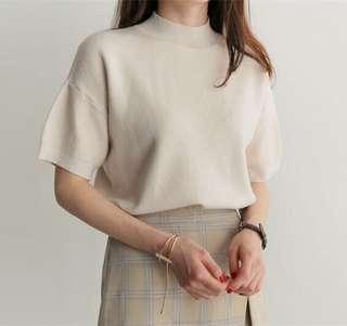 PO   Korean Knitted Cute Top