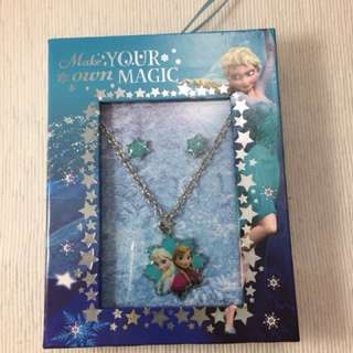 FROZEN necklace & earrings Set