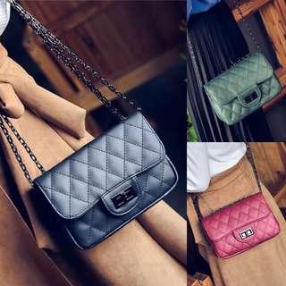 Tas Selempang Chanel Sling Bag Fashion Wanita Cewek Impor Code E188