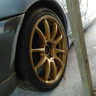 "JAPAN ADVAN RZ 17"" with tyre"