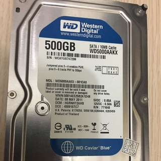 Western Digital 500GB 硬碟