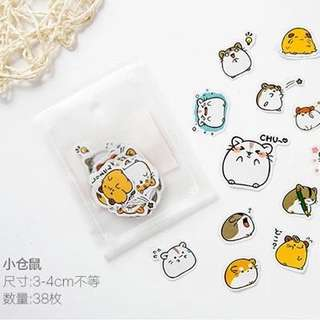 KAWAII stickers: Hamster