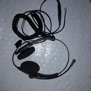 VXI headphone for phone with mic