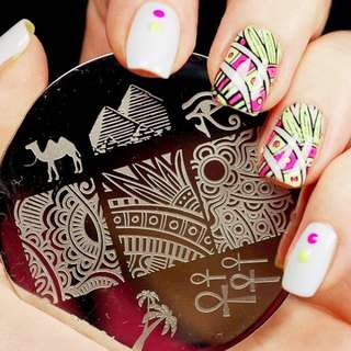 Egypt Theme Nail Art Stamp Template Image Plate BORN PRETTY BP31