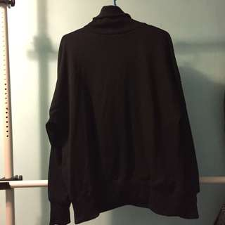 高領衛衣 黑色 全新