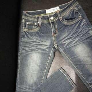 牛仔褲 低腰S