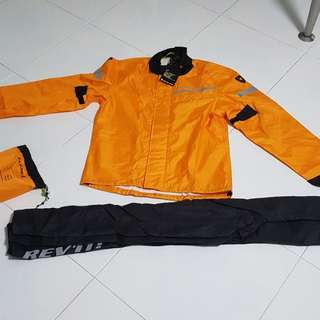 REVIT Combi2 Motorcycle Orange Raincoat