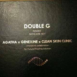 Double G power skincare set Agatha genxine clean skin clinic