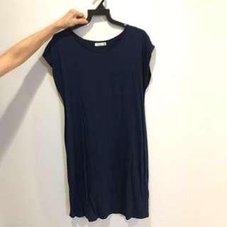 Navy Blue T-shirt Dress. XL