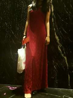 Red Prom Dinner Dress/ Gown Rental