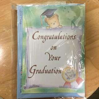 Evercare 畢業生日卡 congratulations 賀卡 graduation bear 包郵 連信封