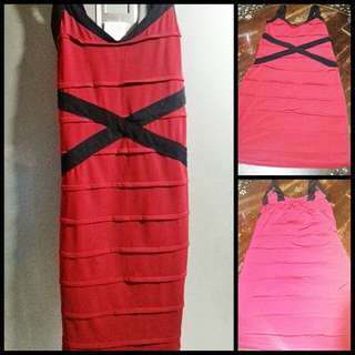 Moving out Sale! Red slim fit cross dress