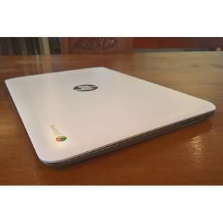 HP Chromebook 14 G4 White and Silver (14-ak013dx)