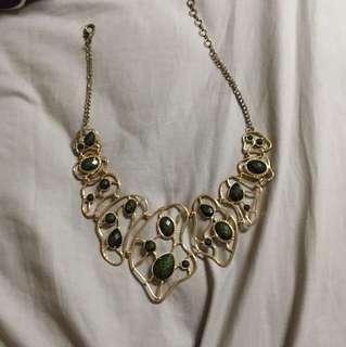 Emerald green statement necklace