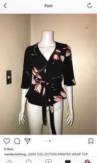 Zara tulip wrap up kimono top FREE SF 💜