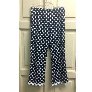 Polka dot black & white 6y