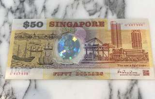 $50 old sg note