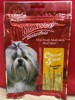 Maxwell Dog Treats Cheese Sticks