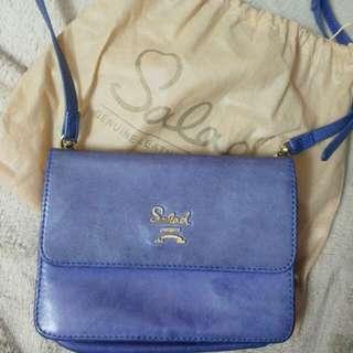 正版紫藍色Salad子母袋組合袋银包+袋