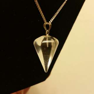 🚚 白水晶錐項鍊