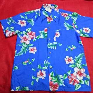 Kemeja Hawaii polyster