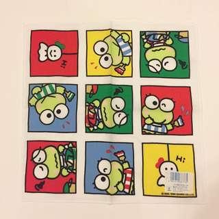 Sanrio vintage kero kero Keroppi 手巾 1989