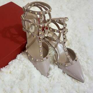 Valentino Kitten Hells Nude Proudre Patent Size 38,5